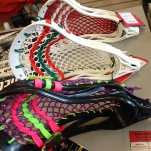 Custom stringing lacrosse